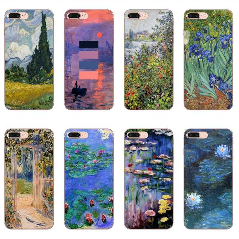 Monet Garten Lotus Neue Fall für iPhone 11 Pro XS Max XR X 8 7 6 6S Plus 5 5S SE Silikon Soft Cover Fall