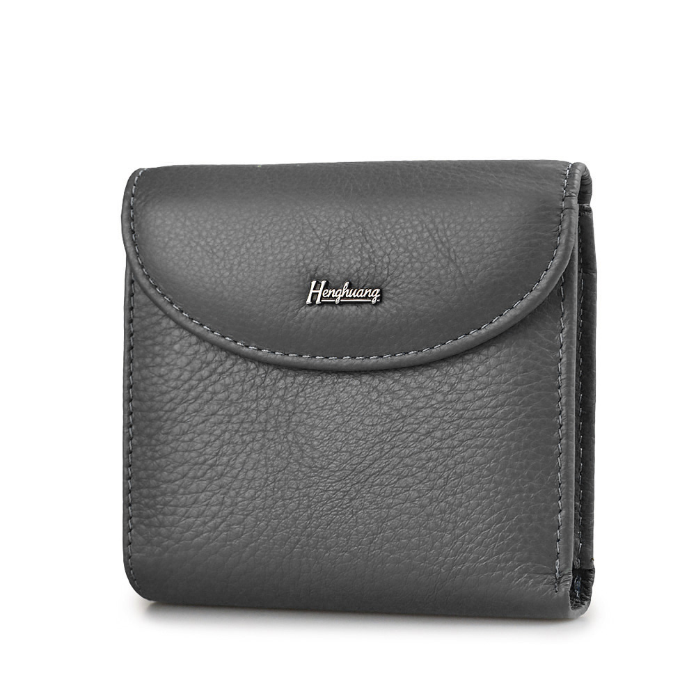 HH Mini Genuine Leather Women Wallets Slim Ladies Clutch New Design Luxury Female Purses Coin Pocket  Multi Card Holder Bags