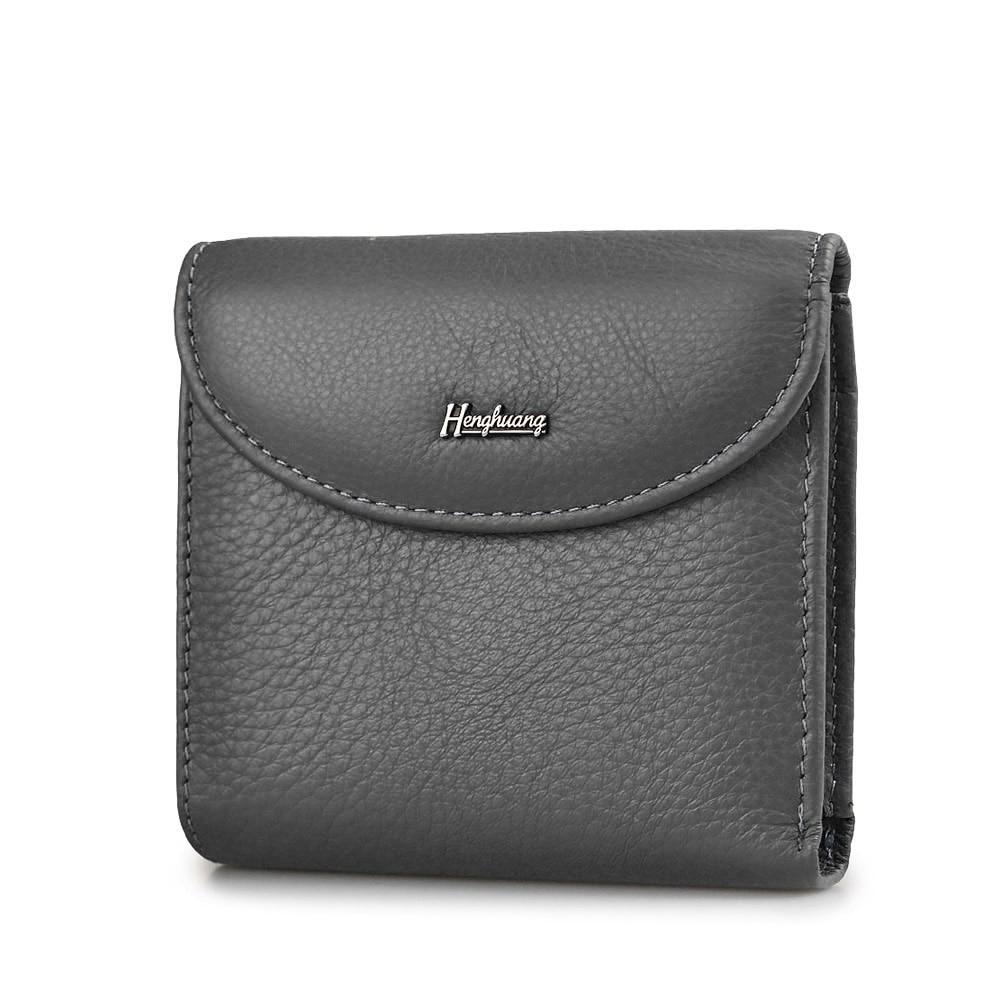 HH Mini Genuine Leather Women Wallets Slim Ladies Clutch New Design Luxury Female Purses Coin Pocket  Multi Card Holder Bags