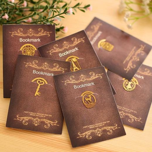 Marque-page en métal, cage danimaux mignons, tour Eiffel, avec cœur, marque-livre, Clips pour papeterie de bureau, cadeau pour les enseignants et les enfants