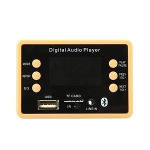 Image 4 - بلوتوث 5.0 MP3 فك فك لوحة تركيبية 5 فولت 12 فولت سيارة USB MP3 مشغل موسيقى WMA WAV TF فتحة للبطاقات USB FM لوحة تركيبية عن بعد