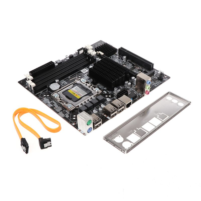 X58 Desktop Motherboard LGA 1366 Pin DDR3 Computer Mainboard Motherboard for L/E5520 X5650 RECC Replacement Parts & Accessories     - title=