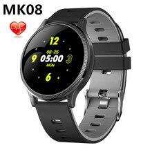 MK08 bracelet intelligent 24 heures surveillance intelligente fréquence cardiaque mesure de la pression artérielle étanche bande intelligente tracker de fitness