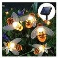 Светящаяся гирлянда с солнечной батареей пчелиная световая гирлянда пузырьковая лампа с хрустальным шаром Праздничная декоративная лампа