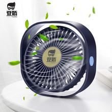 Desk-Fan Mini Fan Rotatable Vertically Quiet Strong-Wind Usb-Cable Operation 3-Speeds
