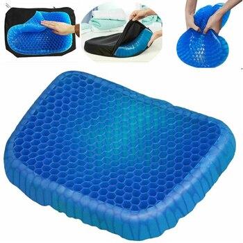 Dropshipping Honeycomb Elastic Gel cushion Car Seat cushion Summer Breathable   Massage Seat Pad Health Care Pain Chair Cushion