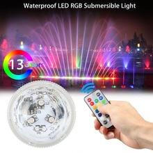 Светильник для бассейна с дистанционным управлением RGB погружной светильник с батареей для подводного плавания водонепроницаемый светильник для бассейна аксессуары для бассейна