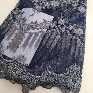 Image 3 - Robe lourde en broderies, perles, maille française, dentelle africaine, dentelle nigériane, tissu, robe de soirée, jupe, robe de soirée, tissu