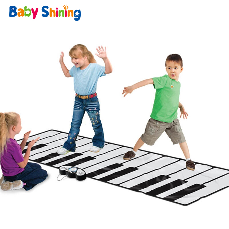 Baby Shining Electronic Piano Blanket 260X74CM Oversized Foldable Educational Blanket 1-9Y Music Game Pad Non-slip Play Mat