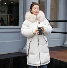 Winter Thicken Parkas coat 2019 New big fur collar Soft back embrodiery Long winter jacket women Fashion  sintepon parkas coat new parkas mujer 2018 fashion long thicken 100