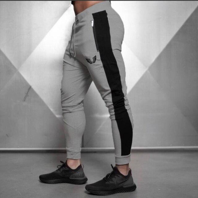 2019 Fashion Men Side Seam Side seam stitching Skinny Sportswear Sweatpants Male Casual Leggings Trousers Joggers Pants Men 4