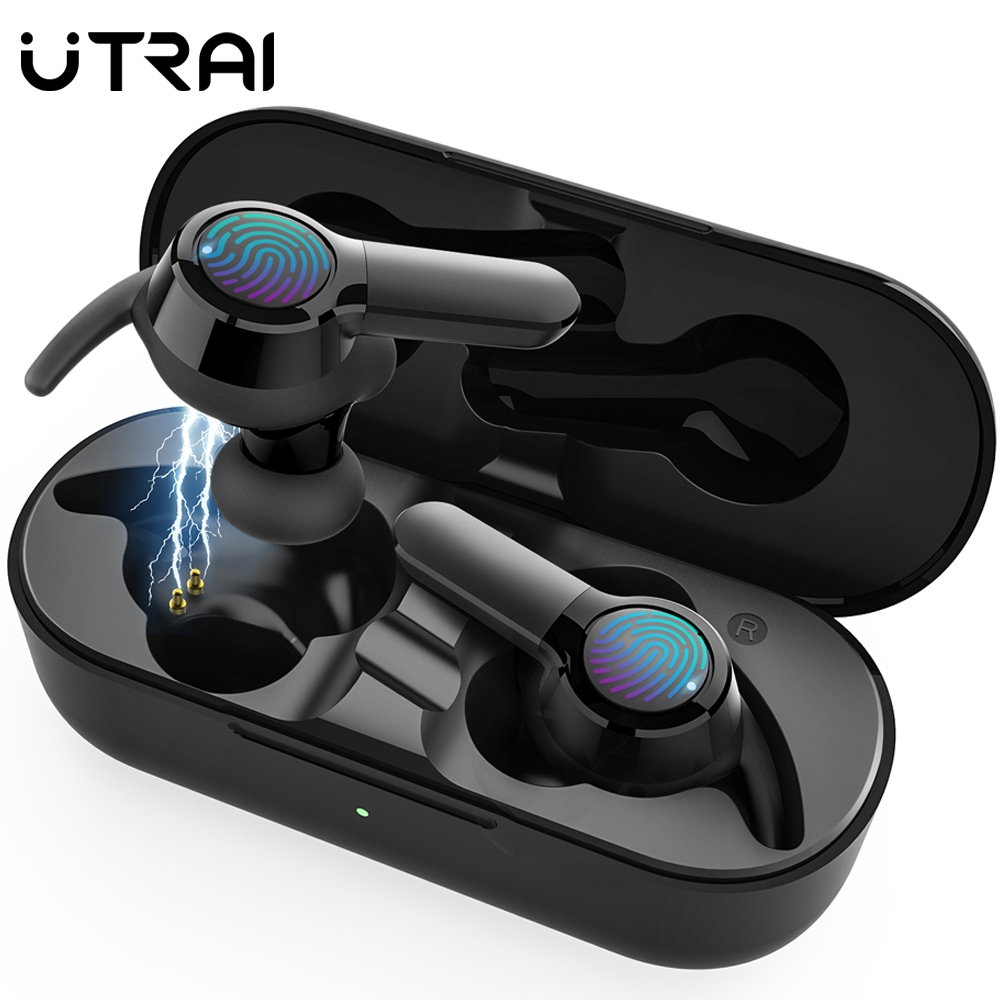 UTRAI Bluetooth Headsets Wireless Earphones With Microphone Intercom Calling For Motorcycle Helmet HIFI Stereo TWS Moto Headset