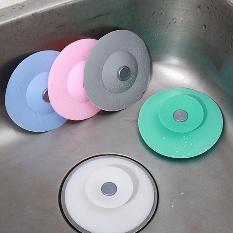 Kitchen Bathroom Sink Shower Floor Drain Deodorant And Anti-clogging Household  Kitchen Silicone Sink Filter Floor Drain