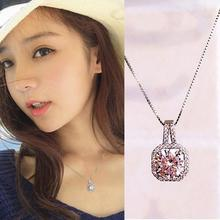 Exquisite collares Wedding Jewelry 925 Sterling Silver Clear Square AAA Zircon Pendant Necklace for Women 45cm chain choker jewelrypalace luxury pear cut 7 4ct created emerald solid 925 sterling silver pendant necklace 45cm chain for women 2018 hot