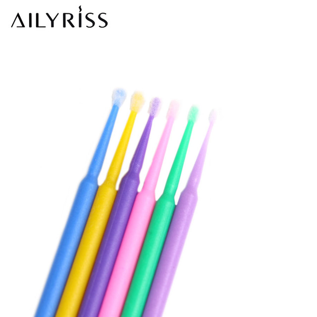 Disposable Micro Brush 100pcs Eyelashes Extension Individual Lash Removing Micro Brush Eyelash Extension Tool Lashes Accessories 4