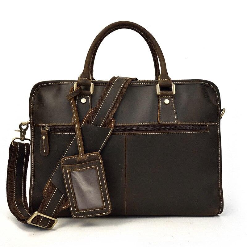 MAHEU محمول جلد طبيعي 15.6 بوصة الرجال حقيبة العمل حمل مكتب رجل محفظة حقيبة أعمال جلدية الملحق حالة-في حقائب جلدية من حقائب وأمتعة على  مجموعة 2