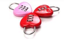 Heart-shaped password lock luggage gym warehouse door padlock love