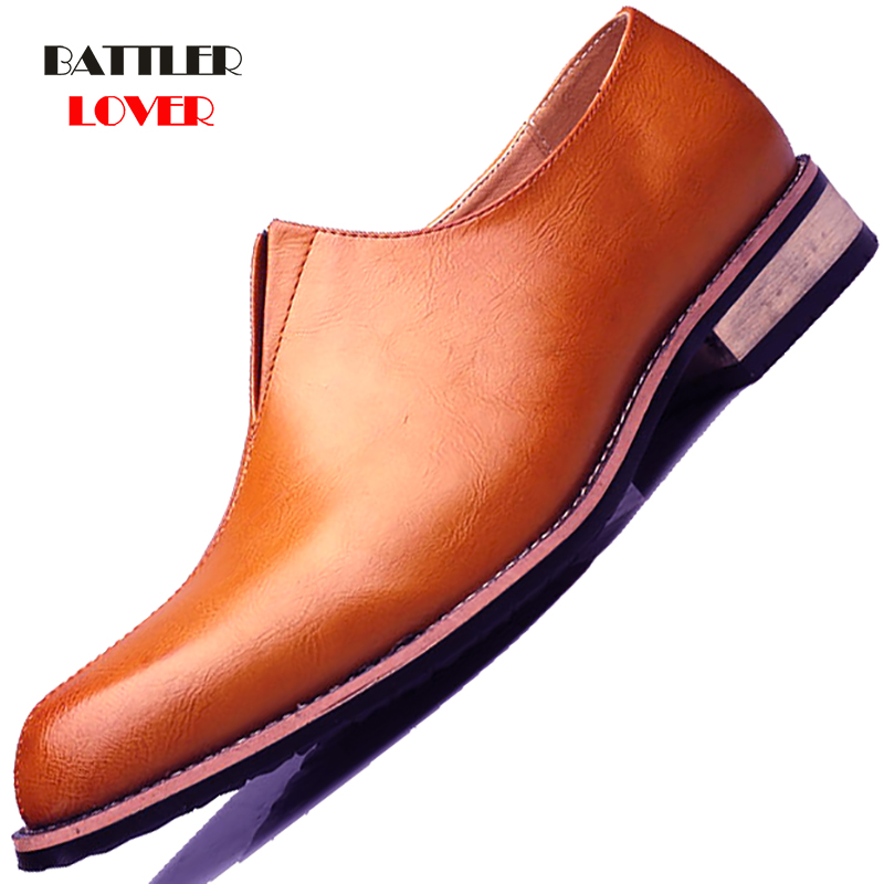 2019 Newest Men Dress Shoes Business Office Slip-on Loafers Casual Driving Shoes Men
