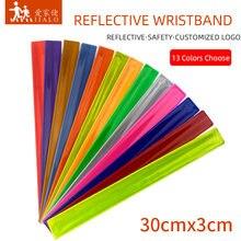 30cm reflexivo pulseira tapa banda pulseiras brindes promocionais para homem mulher braçadeira para correr esportes segurança visibilidade