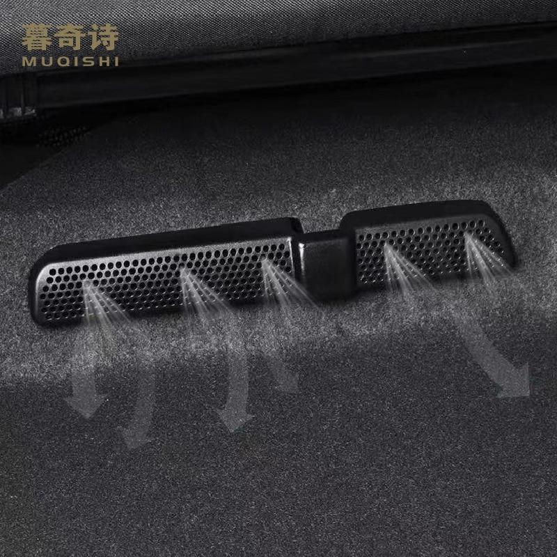 2 pces para volkswagen tiguan 2017-2020 carro ar condicionado capa de ventilação assento traseiro anti saída de poeira capa abs 2019