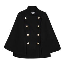 Coat Want Women Winter Short Double Breasted Fashion Stand Collar Small Scent Bat Sleeve Wool Blends