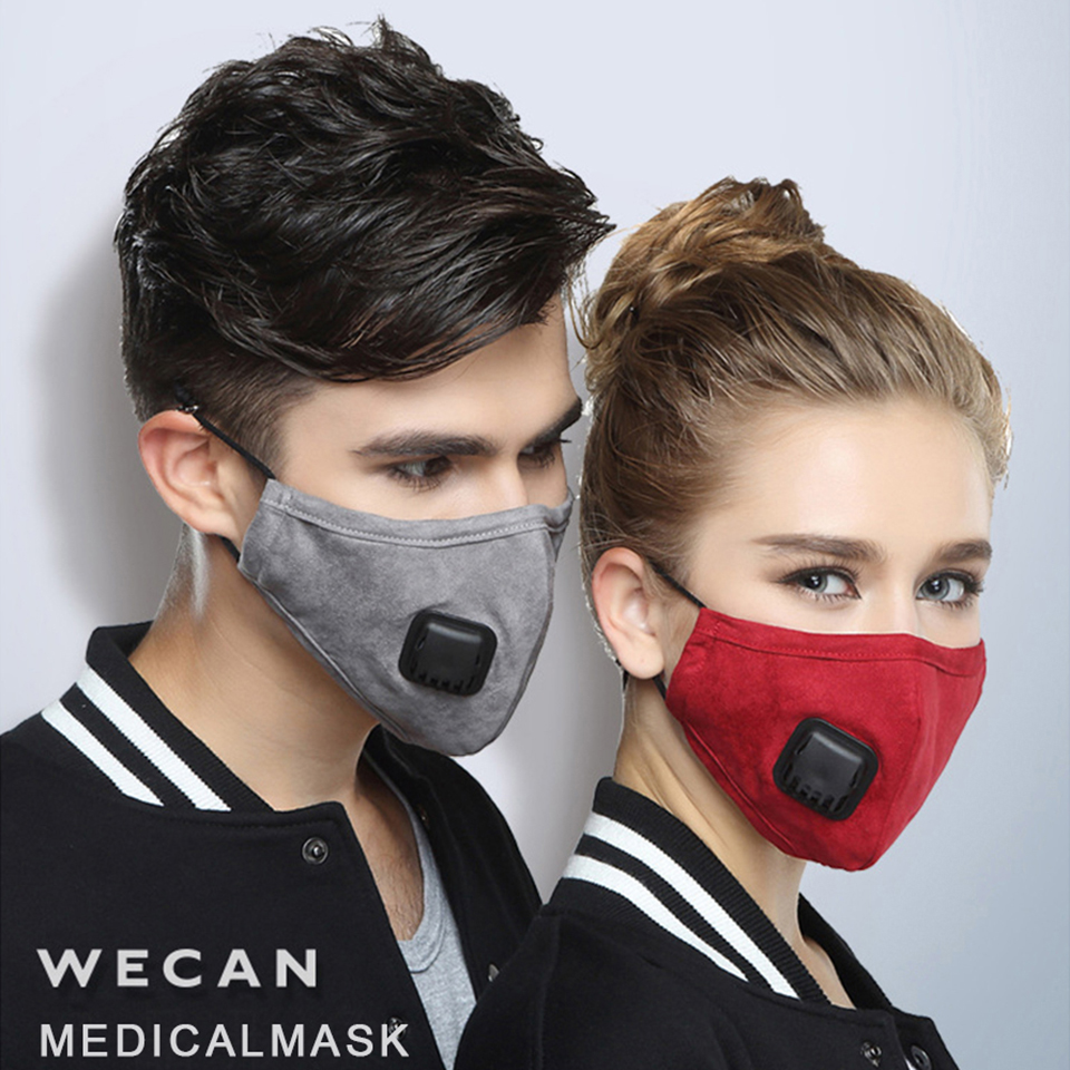 Washable Reusable Face Mask Filter Black Masks Respirator Carbon Pad For Women Men Nose Mouth Maske Protection Face Masker Cover