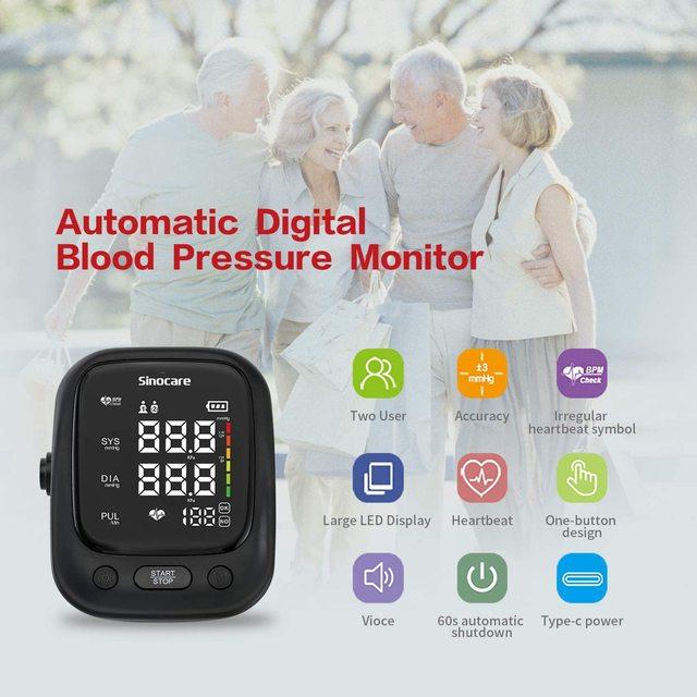 Blutdruckmessgerät für den oberen Arm mit Stimme und großem LED Display 3