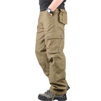 Cargo spodnie męskie spodnie męskie spodnie dresowe męskie spodnie do biegania męskie spodnie dresowe męskie spodnie wielokieszeniowe spodnie szerokie nogawki tanie i dobre opinie BAQCN Cargo pants CN (pochodzenie) Mieszkanie COTTON Kieszenie Luźne Pełnej długości 28 29 30 31 32 33 34 36 38 40 42 44