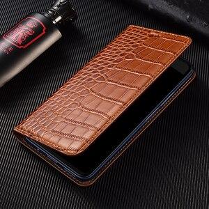 Image 5 - Crocodile Echtes Flip Leder Fall Für Xiaomi Redmi Hinweis 2 3 4 4X5 5A 6 6A 7 8 8T 7A K20 K30 Pro Plus Handy Abdeckung Brieftasche