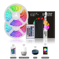 5M 10M Wireless Phone Control WiFi LED Strip Sync To Music Rhythm Works With Alexa Google Home SMD 5050 DC 12V RGB Tape Ribbon