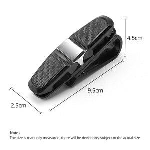 Image 5 - FONKEN 자동차 안경 홀더 안경 카드 보관 클립 자동 썬 바이저 인테리어 구성 액세서리 자동차 선글라스 홀더