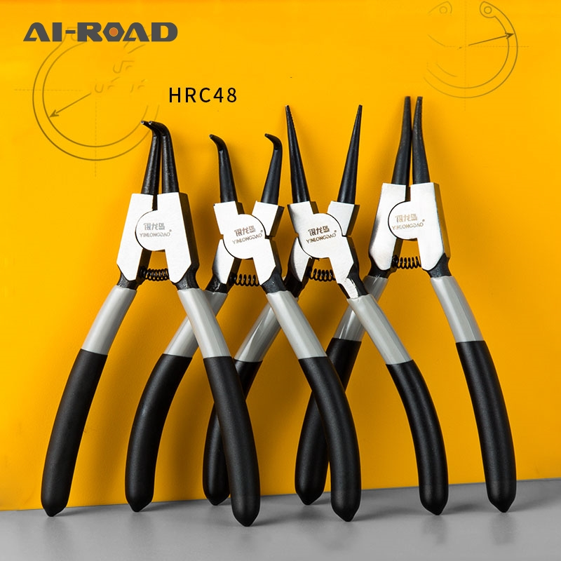 6'' 7'' 9'' Circlip Pliers Internal External Curved Straight Tip Circlip Plier Snap Ring Plier Mechanical Tools