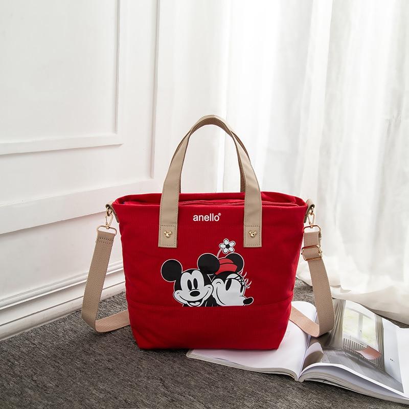 Disney Mickey mouse lady canvas messenger shoulder bag cartoon fashion minnie handbag women messenger bag shopping