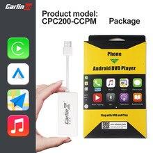 Carlinkit apple carplay dongle android automático com fio usb navegação jogador plug and play ios caixa inteligente para reequipamento tela android carro