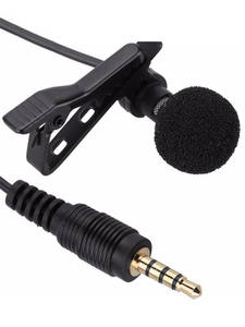 Microphone Lavalier Laptop Lapel Mini for Samsungxiaomi Jack-Hands-Free Clip-On Portable