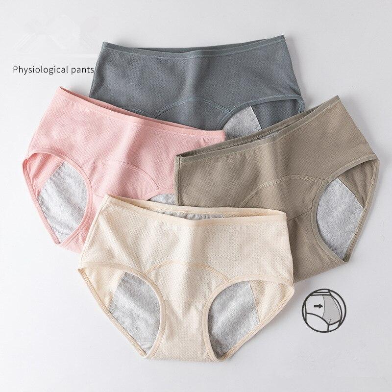 Leak Proof Menstrual Period Panties Women Underwear Physiological Pants Cotton Briefs Plus Size Lingerie Waterproof Panties
