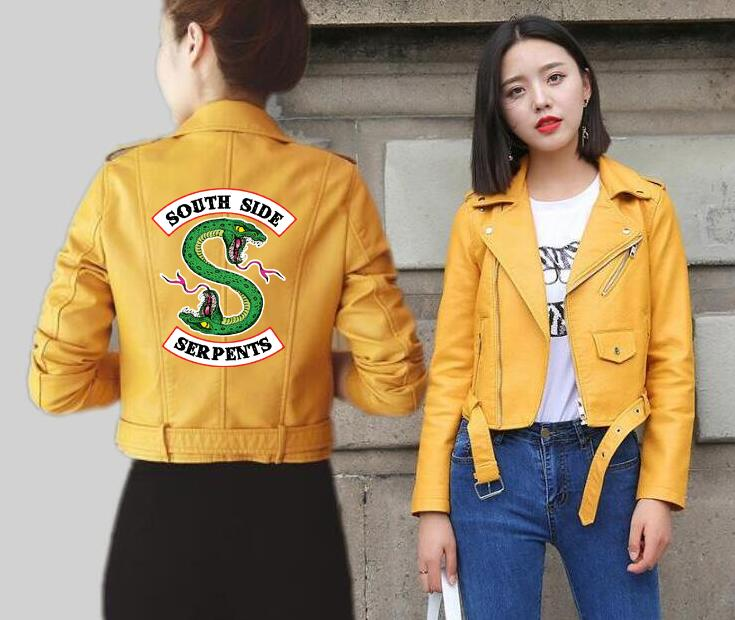 Giacca in pelle da donna Southside Snakes Riverdale Cool Girl Coat Women Fashion