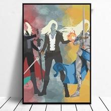 Trône de verre série aquarelle toile imprime toile peinture Cuadros mur Art photo pour la décoration de salon