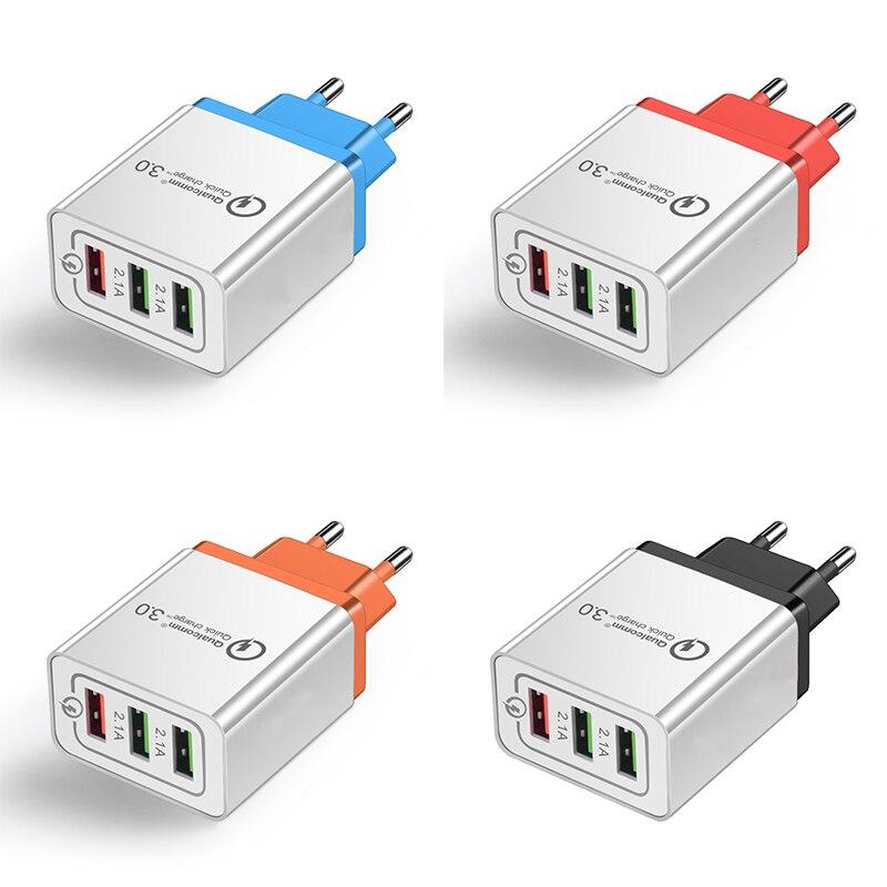 AC DC USB 5V адаптер питания 2A 1-4 порта USB для мобильного телефона быстрое зарядное устройство 5V USB адаптер питания Универсальный 220V EU штекер