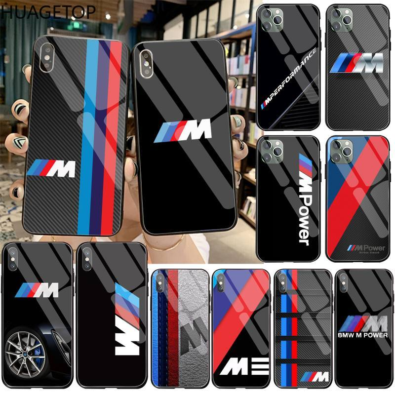Sport car BMW M Power Black Cell Phone Case Tempered Glass For iPhone 11 Pro XR XS MAX 8 X 7 6S 6 Plus SE 2020 case image