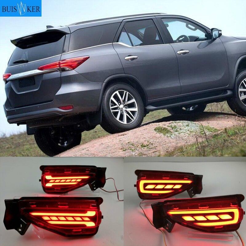 LED Reflektor Stoßstange Hinten Schwanz Licht für Toyota Fortuner SW4 2015 2016 2017 2018 2019 2020 Fahren Bremsleuchte Brems