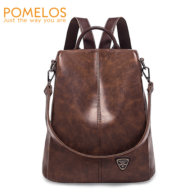 POMELOS Backpack Women New Arrival High Quality PU Leather Women Backpack Fashion Anti Theft Backpack Rucksack Bagpack Backbag