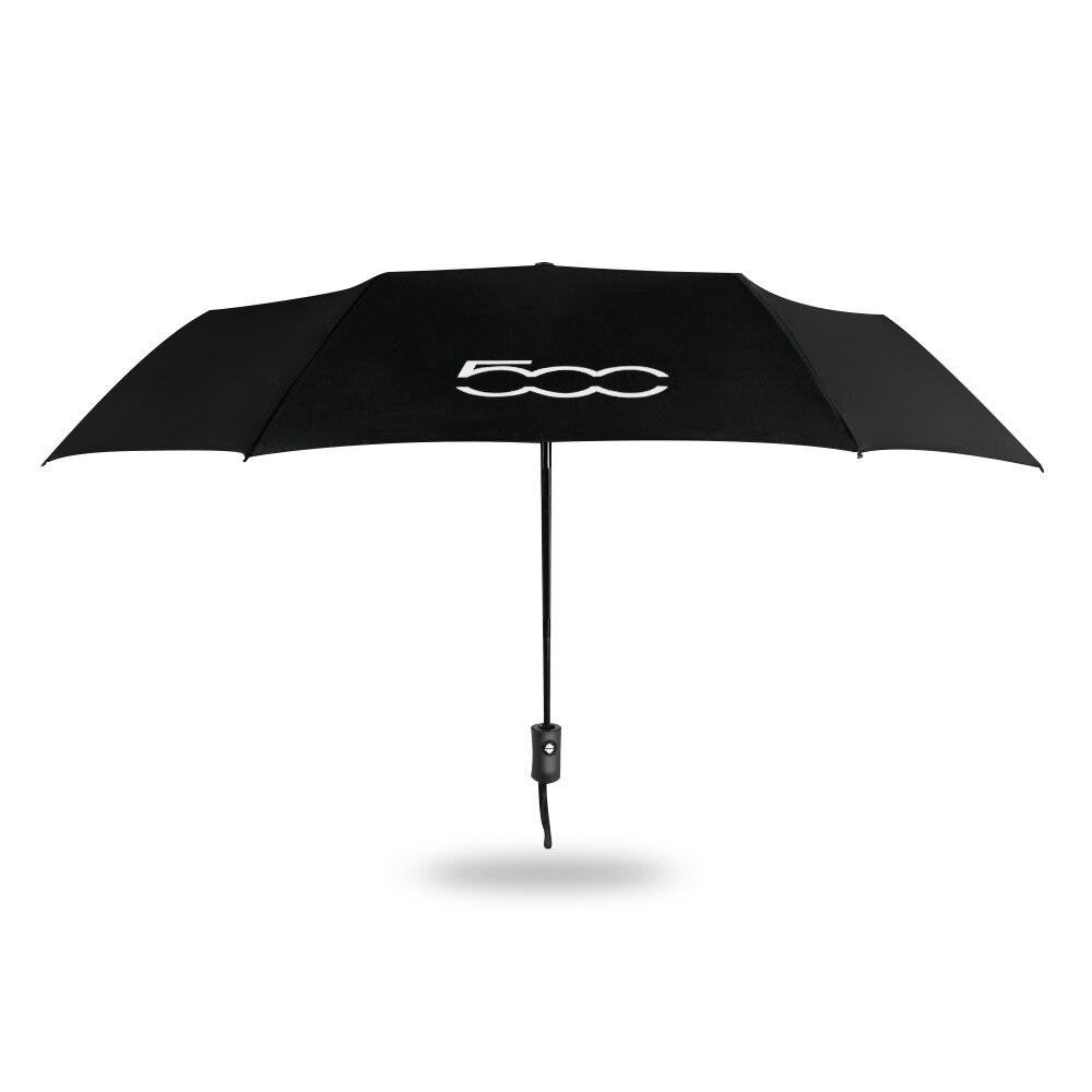 Fully Automatic Folding Windproof Umbrella For Fiat 500 Car Portable Sunshade With Car Logo Sun Beach Umbrella Auto Accessories