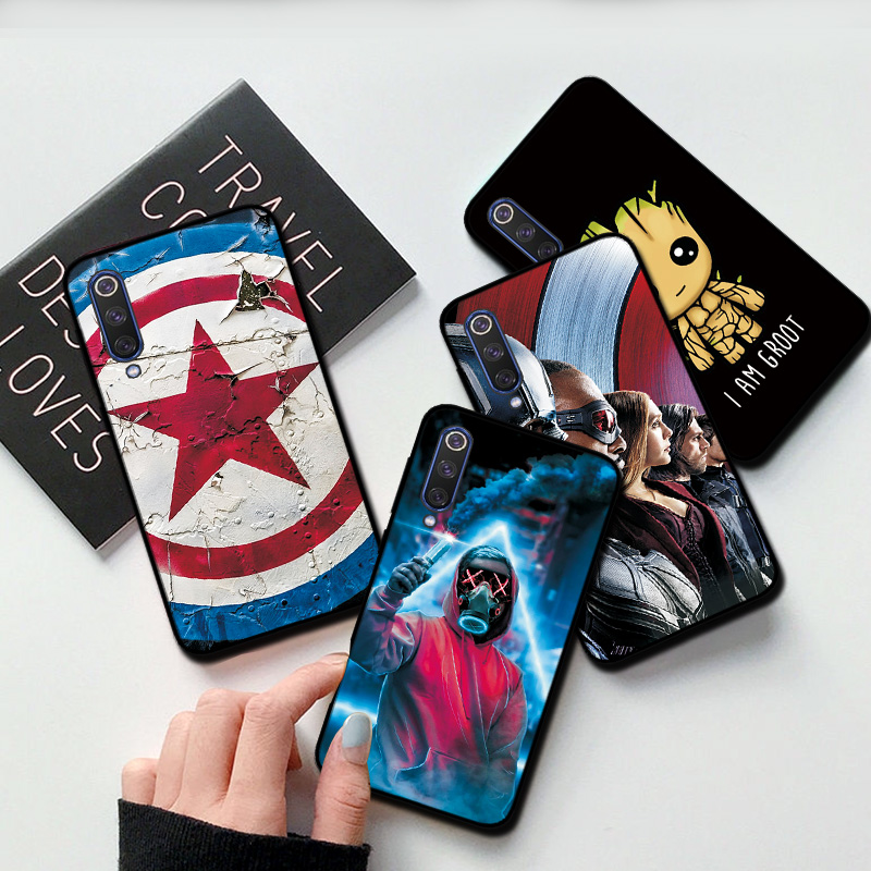 Case For Vivo Y81 Black TPU Back Cover Case For Vivo Y81 Y81S Y85 Y93 Covers Marvel Avengers Hero VIVO V17 NEO IQOO NEO Z5 Cases