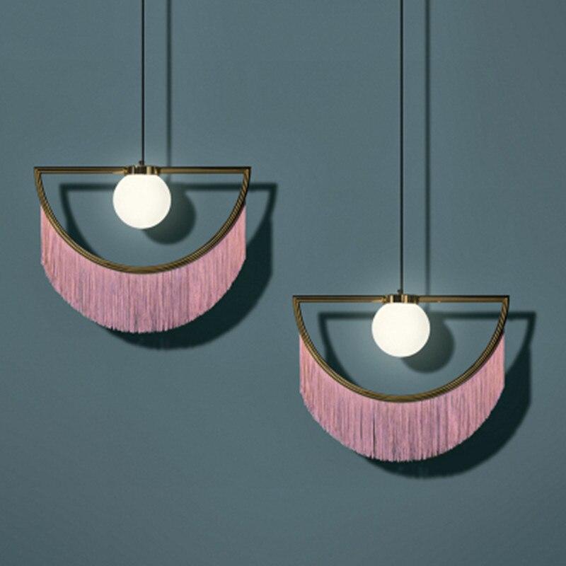 Işıklar ve Aydınlatma'ten Kolye ışıkları'de Kolye işık bağbozumu kolye lamba asılı lamba modern kolye tavan lambaları LED restoran oturma odası dekorasyon title=