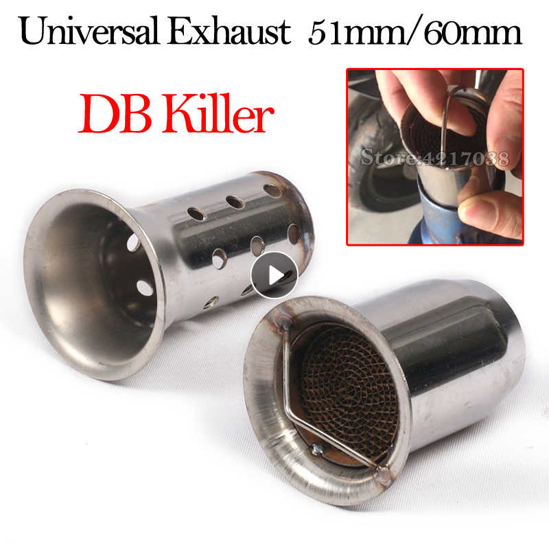 60mm Rvs Universele Motorfiets Uitlaat DB Killer Silencer Noise Sound Voor YAMAHA HONDA Yoshimura