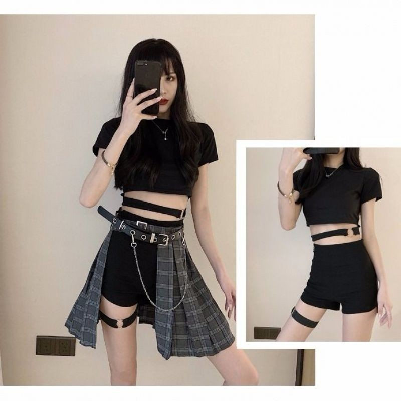 NiceMix 2pc Sets Top And Skirts Clothes Set Women Two-piece Suit Sweet Preppy Clothe Loose Young 2020 New Spring Two Pieces Sets