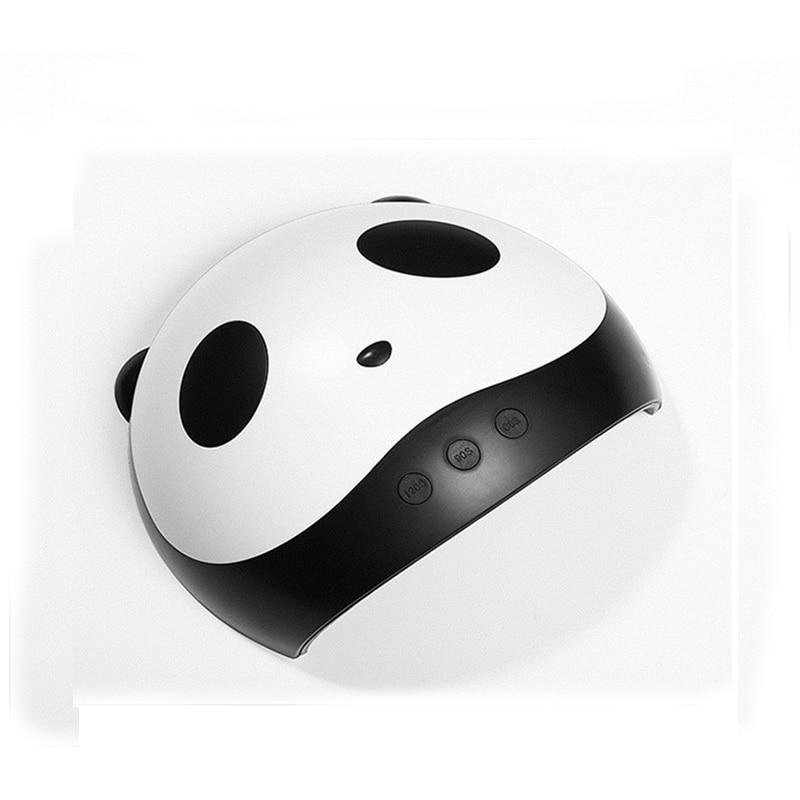 УФ-лампа для маникюра светодиодный Сушилка для ногтей лампа солнцезащитный свет отверждение всех гель-лаков Сушка УФ-гель USB умный выбор времени инструменты для дизайна ногтей LASTAR6 - Цвет: Panda