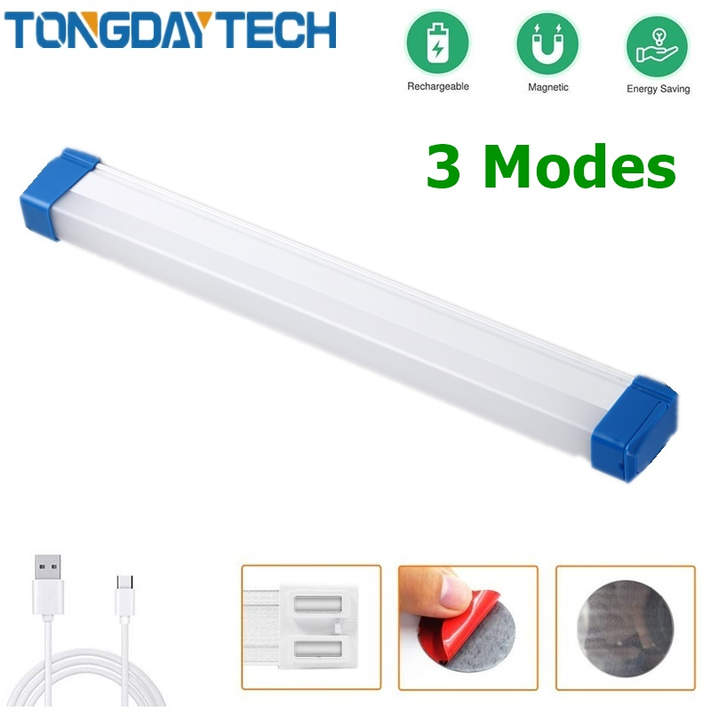 TONGDAYTECH 3 Mode Flashlight USB High Power Rechargeable LED For Wardrobe Cupboard Closet Kitchen For Emergency Lamp