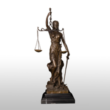 Christmas Promotion sales Small Lady Scales of Justice Lawyer Statue bronze art crafts materials replica bronzes CZS-191